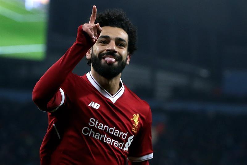 Salah consiguió un récord en el fútbol inglés. Foto: EFE
