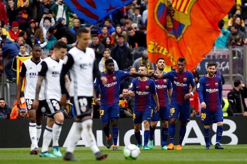 Barcelona venció 2-1 a Valencia. Foto: EFE