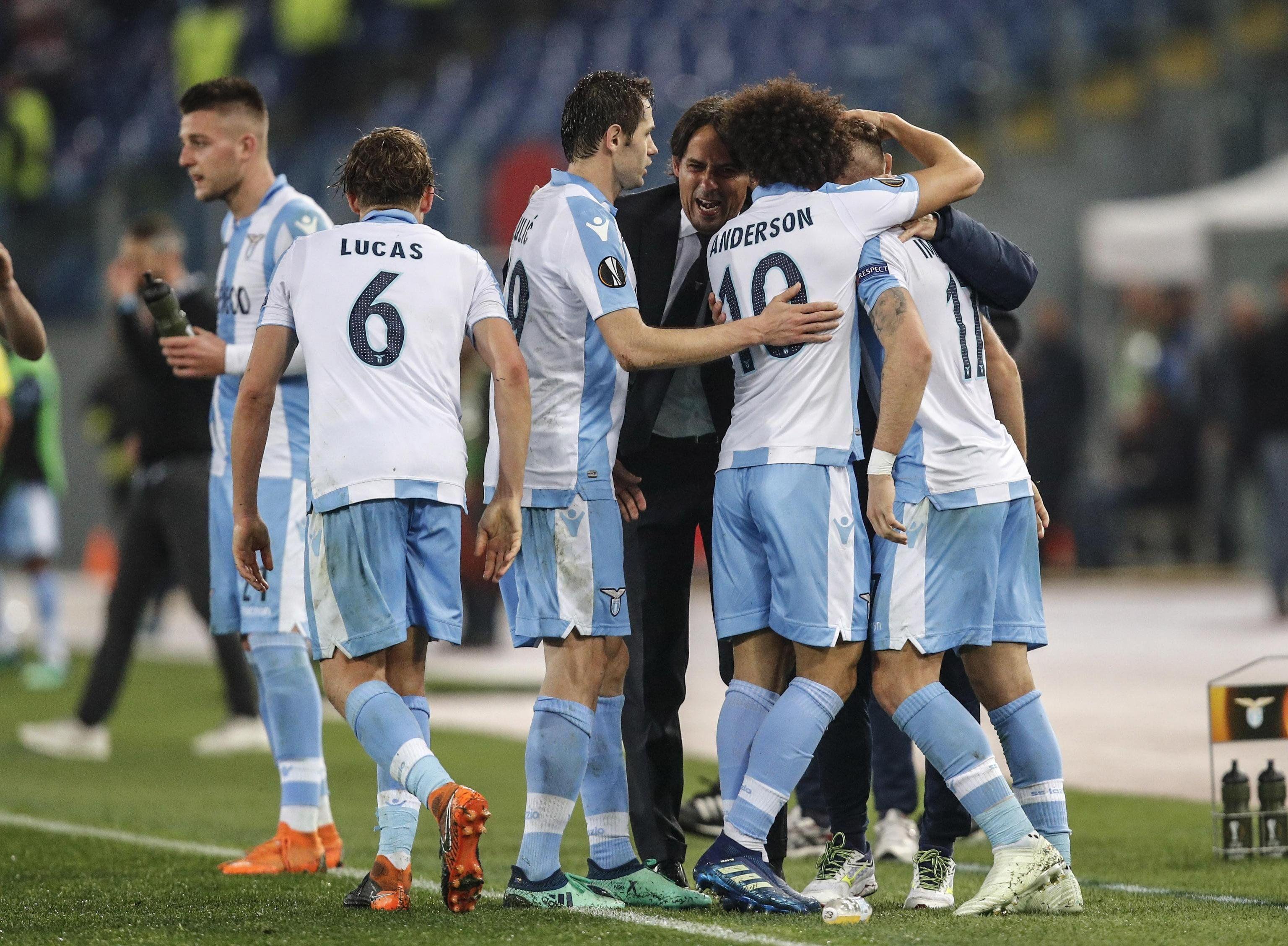 Lazio logró importante ventaja en la ida. Foto: EFE