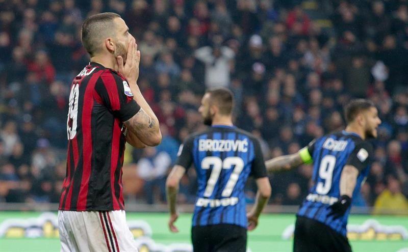 Milan e Inter empatan y dejan inalterados los equilibrios por Europa. Foto: EFE