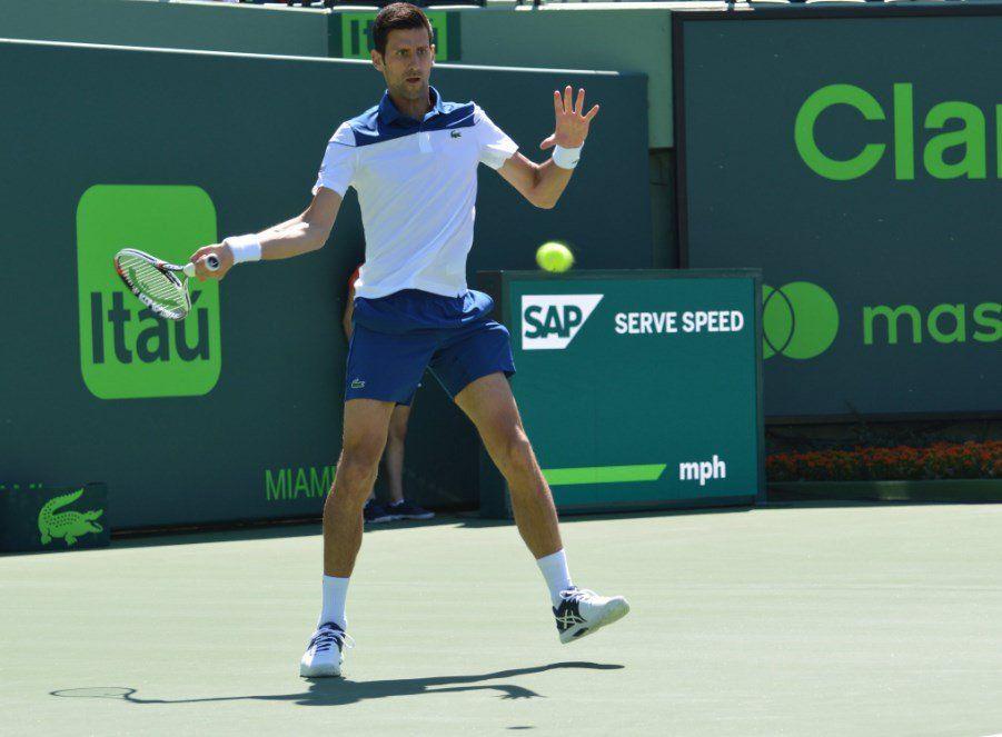 Djokovic cayó en su debut en Miami.