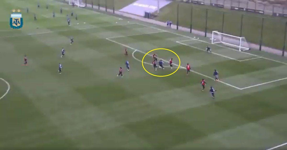 Messi marcó un golazo en la práctica. Imagen: Mundo Deportivo