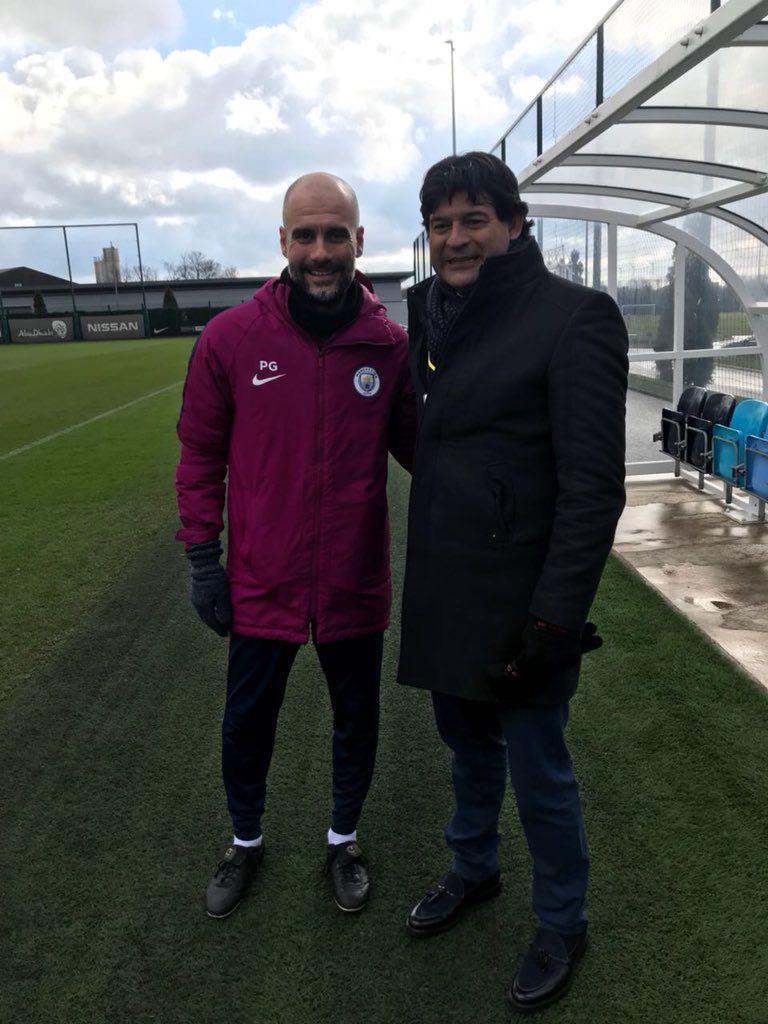 Pepe Cardozo visitó a Guardiola.