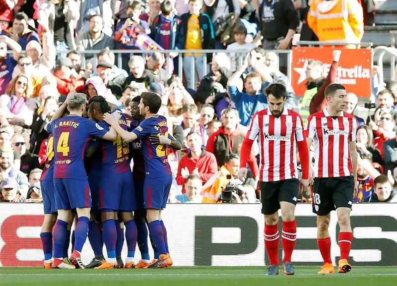 Barcelona venció 2-0 al Athletic. Foto: EFE