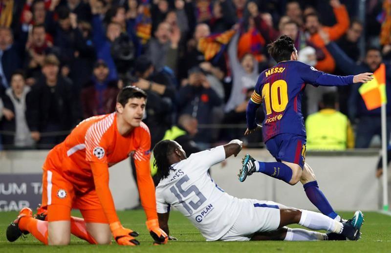 Messi convirtió un doblete para el Barcelona. Foto: EFE