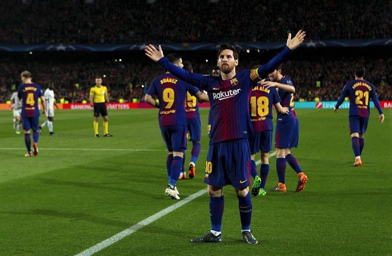 Messi marcó un doblete en el Camp Nou. Foto: EFE
