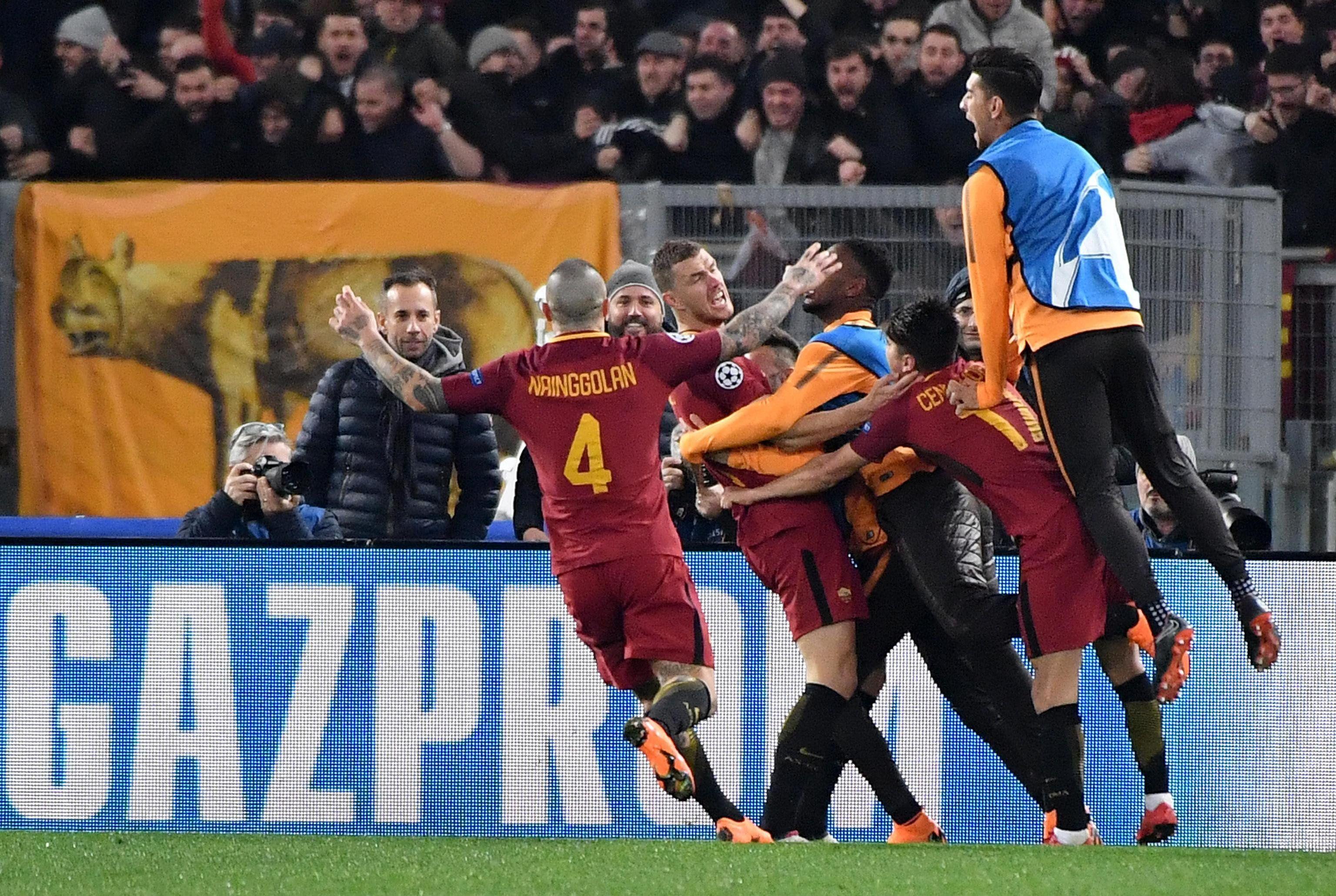 Roma. la grata revelación de la Champions League. Foto: EFE