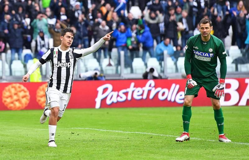 Dybala pone líder a Juventus. Foto:EFE
