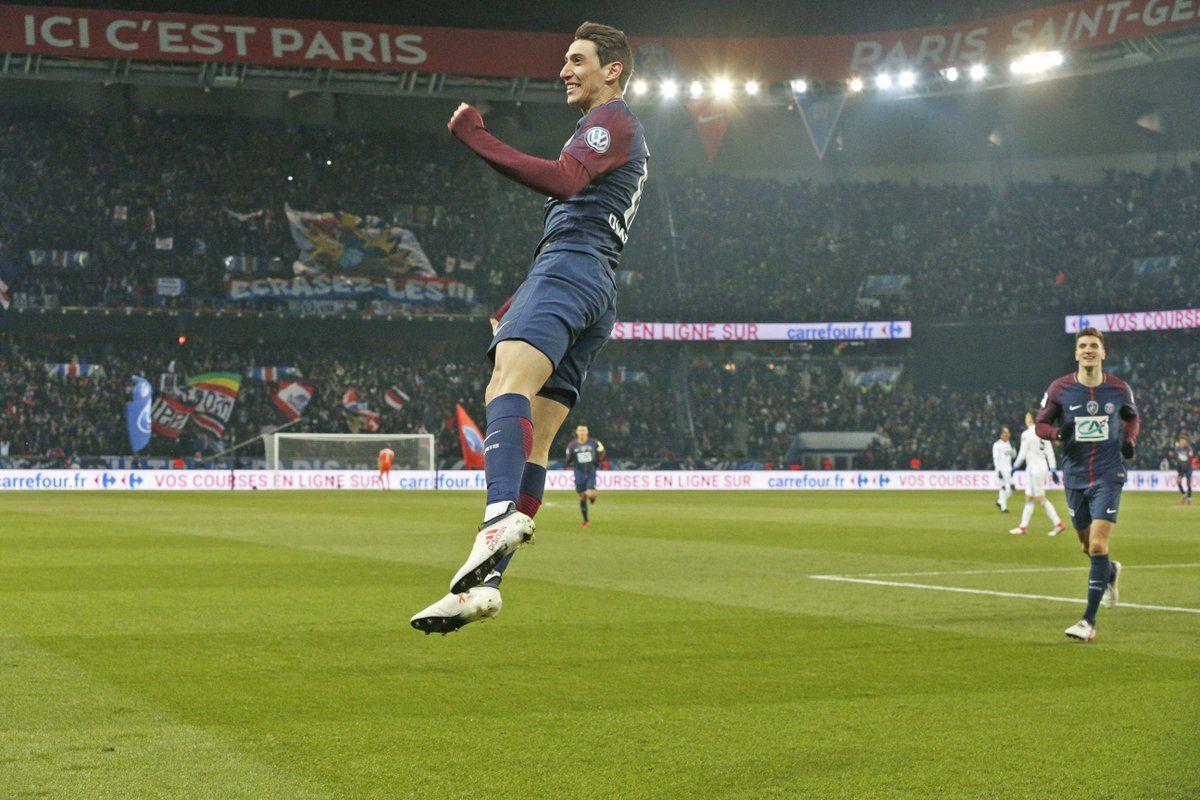 Dos goles de Di María para olvidar a Neymar. Foto: Gentileza
