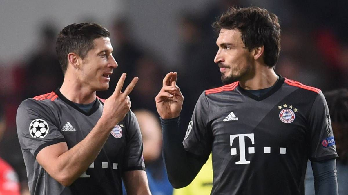 Hummels y Lewandowski se pelean verbalmente en el entrenamiento. Foto: Gentileza