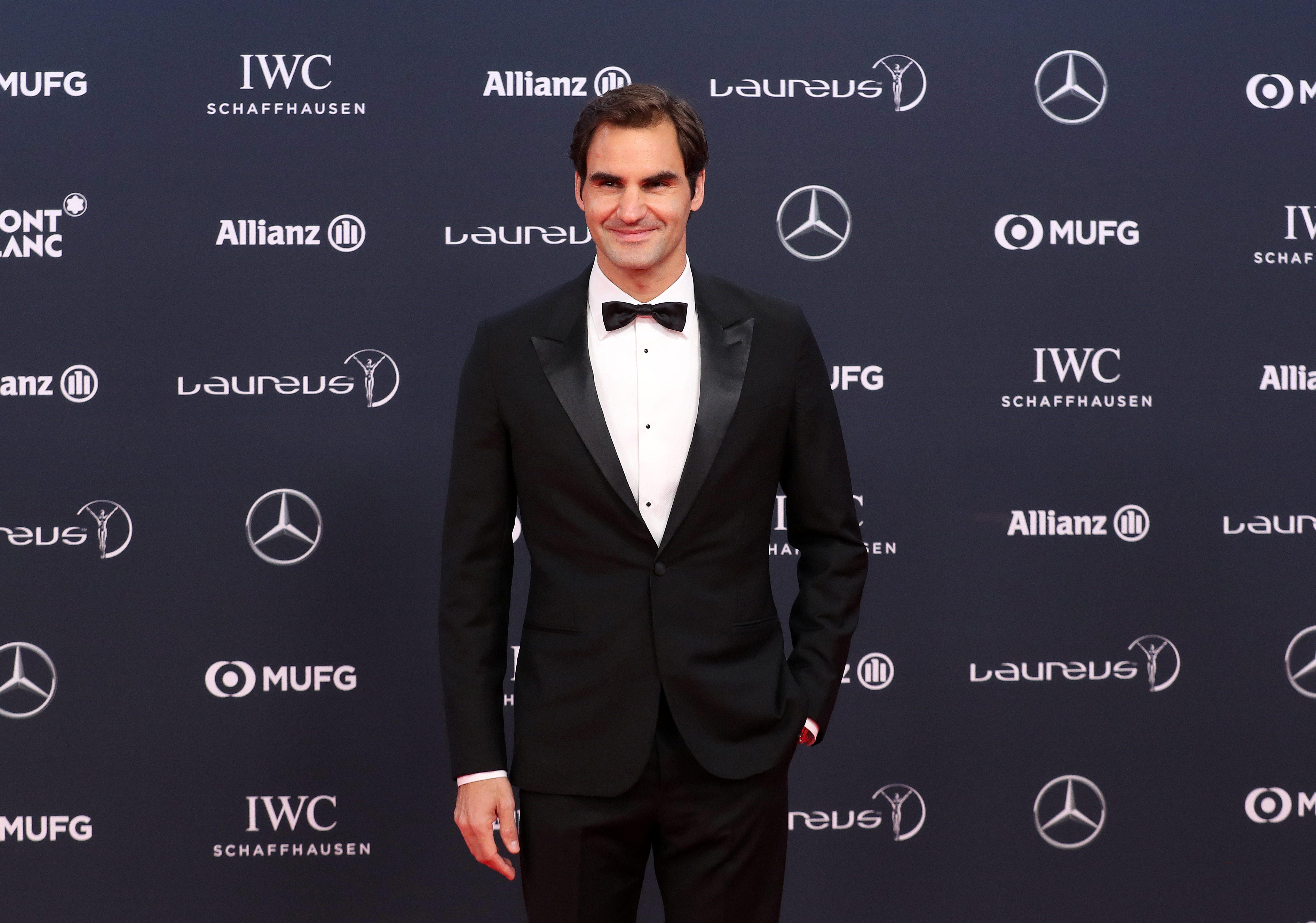 Roger Federer durante los PremiosLaureus. Foto: EFE