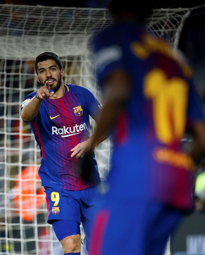 Suárez marcó 3 de los 6 goles del Barcelona. Foto: EFE