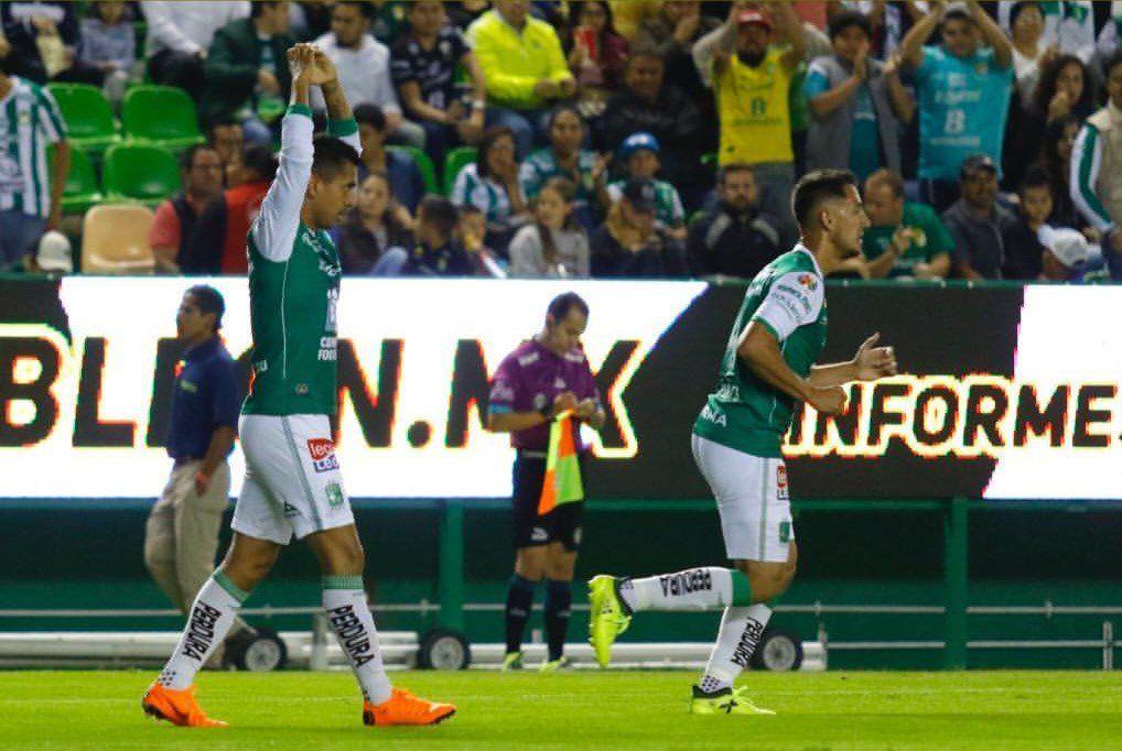 Iván Piris marca un golazo en la Copa MX para el León. Foto: Gentileza