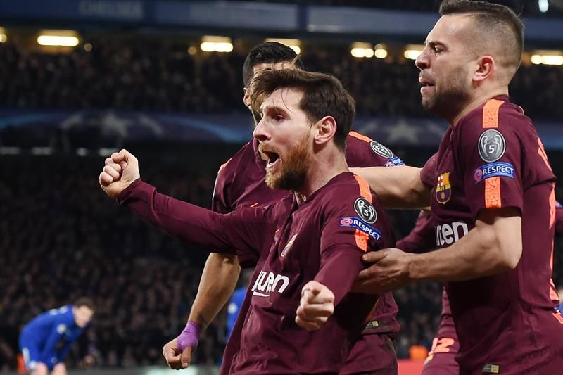 Messi salvó al Barcelona en Stamford Bridge. Foto: EFE