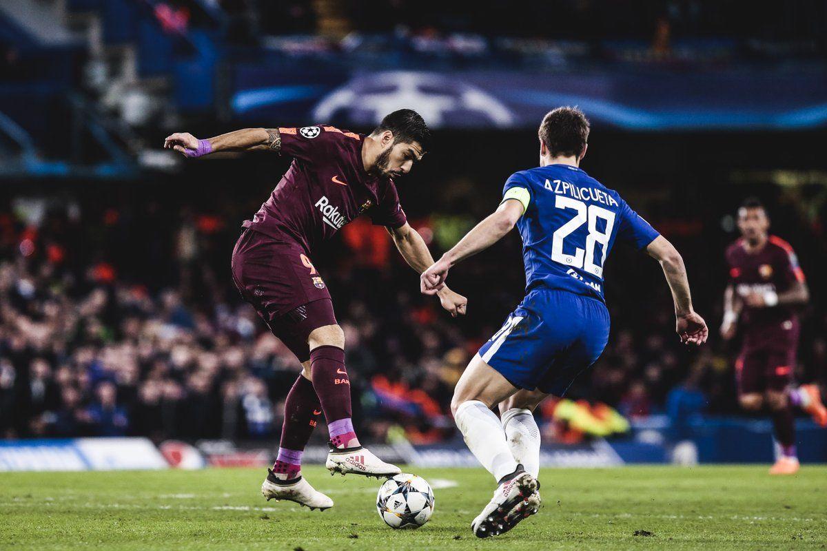 Suárez fue titular ante el Chelsea.