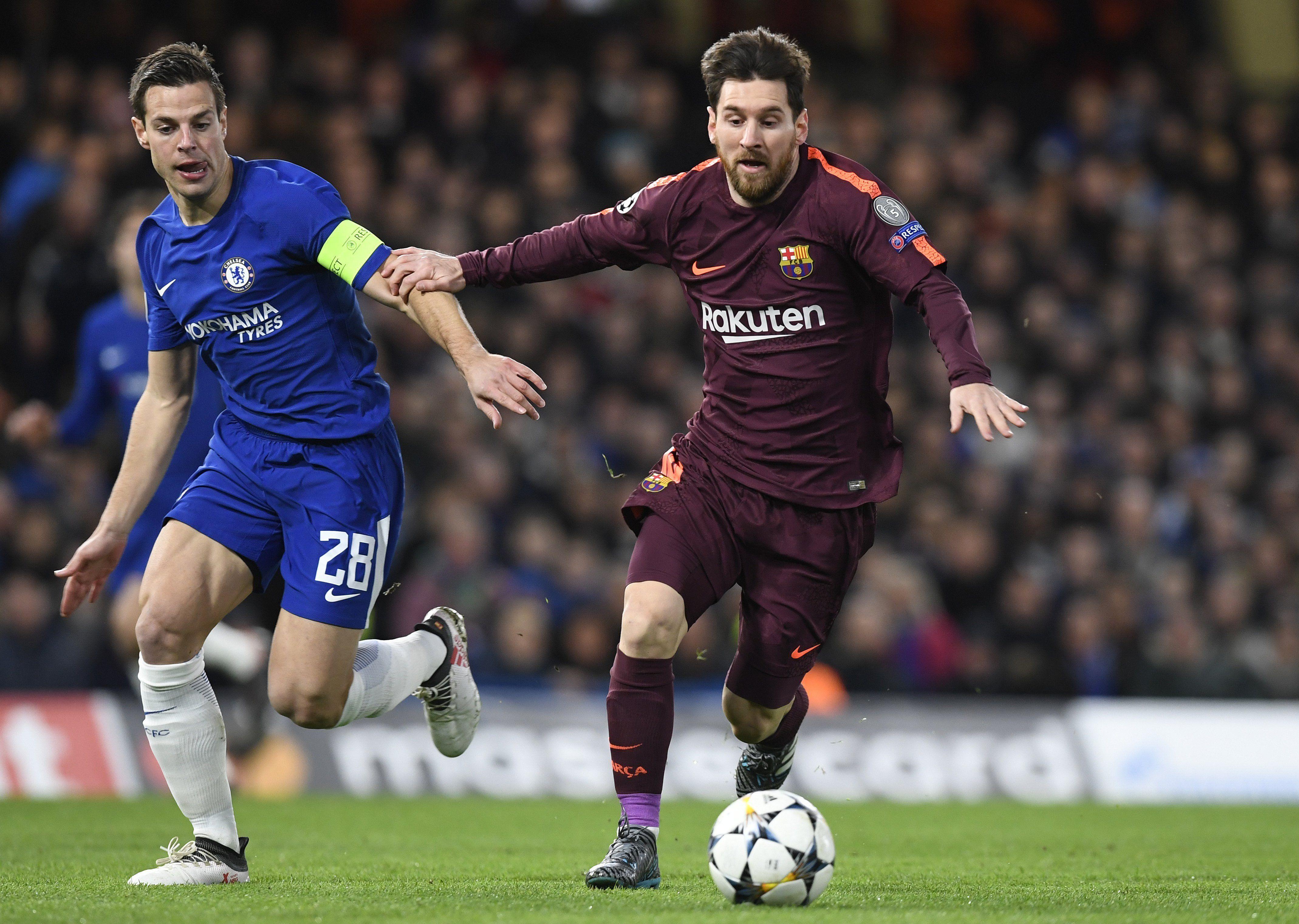 Messi rompió con el maleficio y pudo convertir un gol al Chelsea. Foto: EFE
