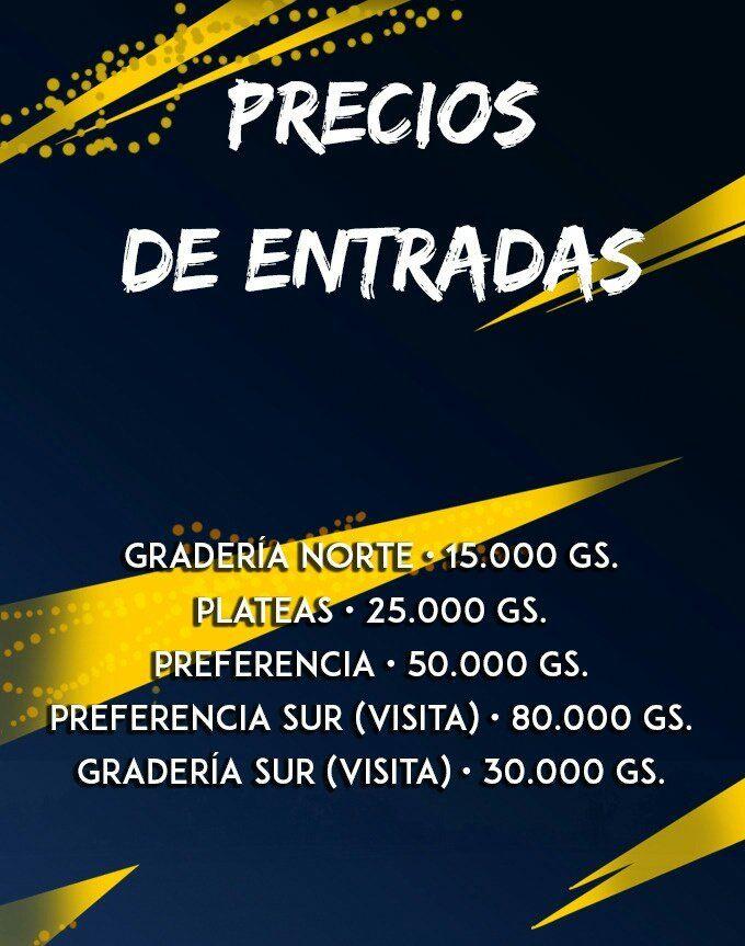 Precios de entradas para la fiesta del domingo en Luque