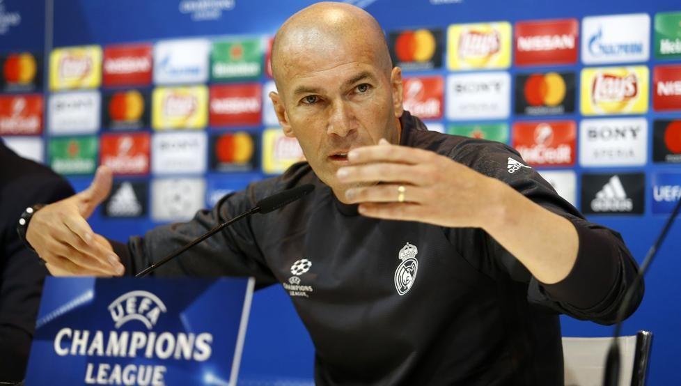 Zidane habló en conferencia de prensa. Foto: EFE