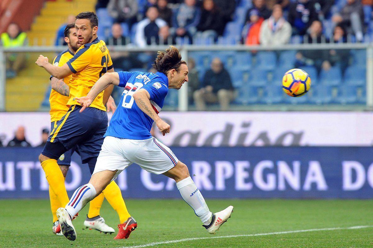 Gol y labor determinante de Édgar Barreto en la Sampdoria. Foto:@sampdoria