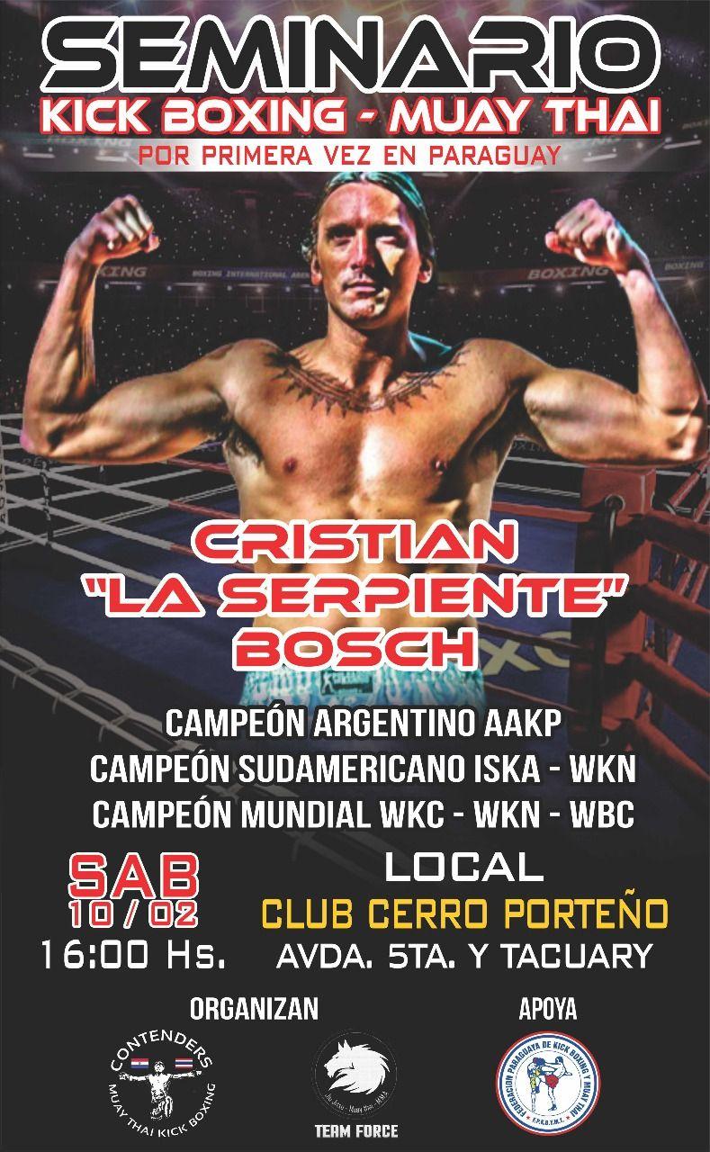 Seminario kick boxing - muay thai con Cristian Bosch