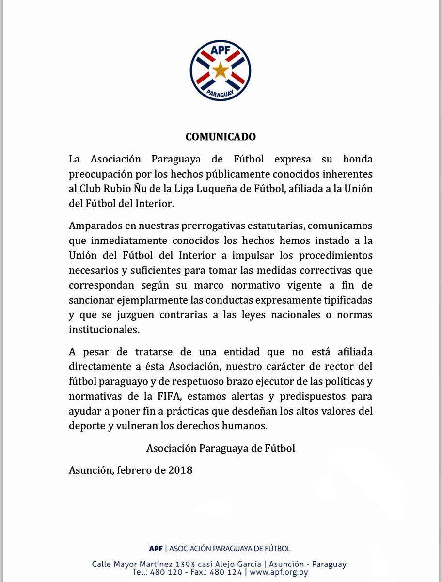 El comunicado de la APF tras el escándalo sexual