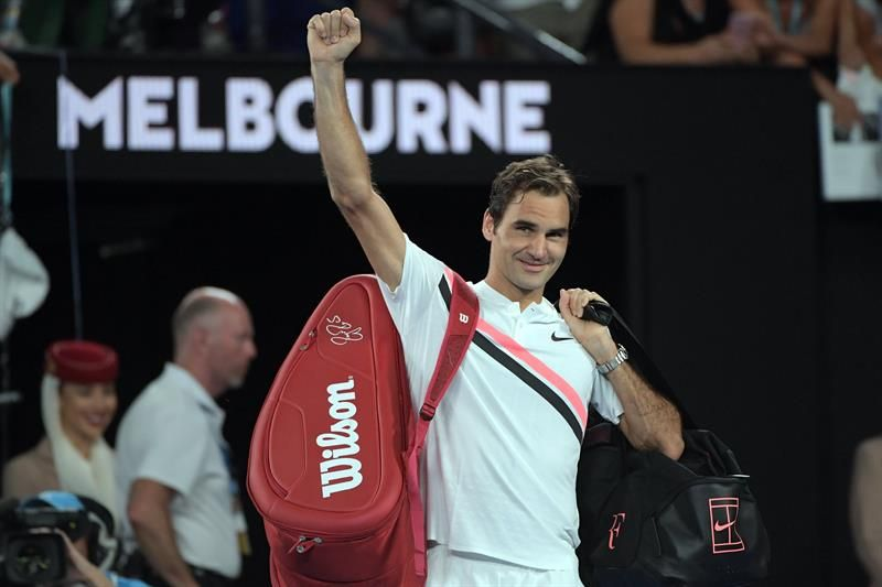Roger Federer El cuento de hadas continúa. Foto: EFE