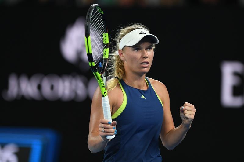 Wozniacki se instaló en las semifinales del Abierto de Melbourne. Foto: EFE