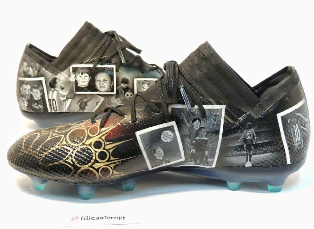 Calzados personalizados de Lionel Messi. Foto: Gentileza