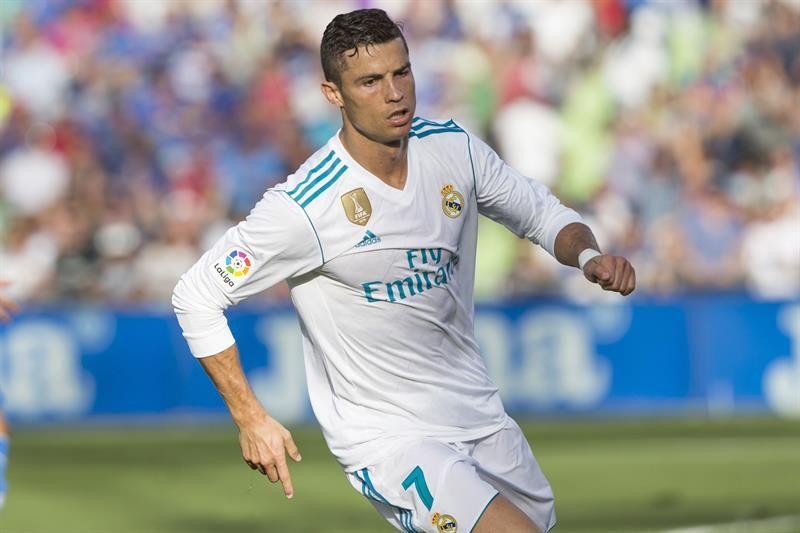 CristianoRonaldocelebra un gol marcado ante el Getafe. Foto: EFE