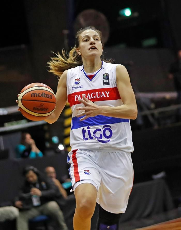 La jugadora Paola Ferrari de Paraguay en acción. Foto: EFE