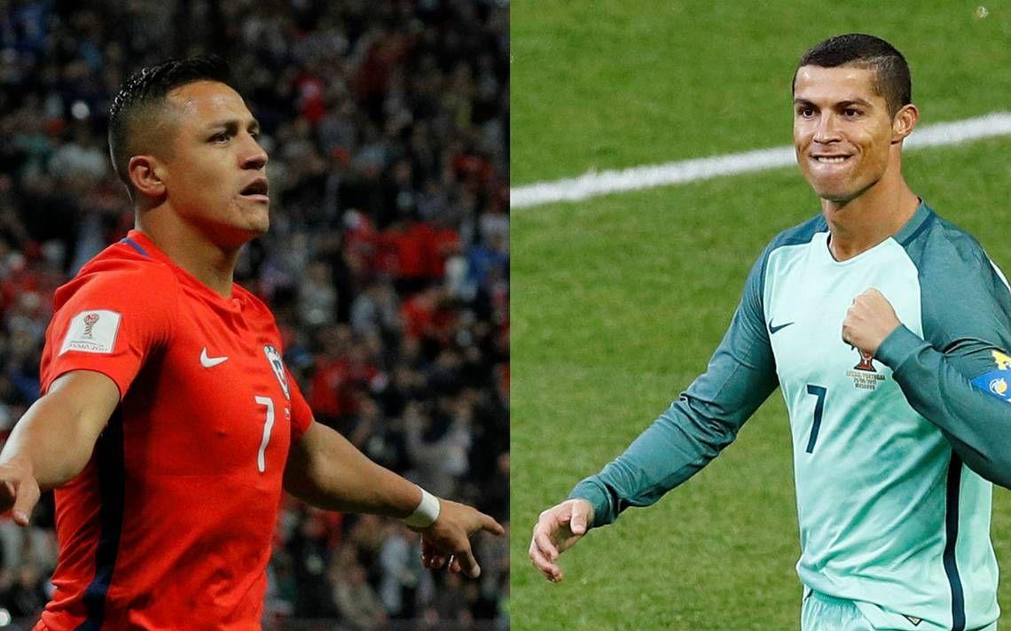Alexis vs. Ronaldo. Chile vs. Portugal. Foto: Gentileza