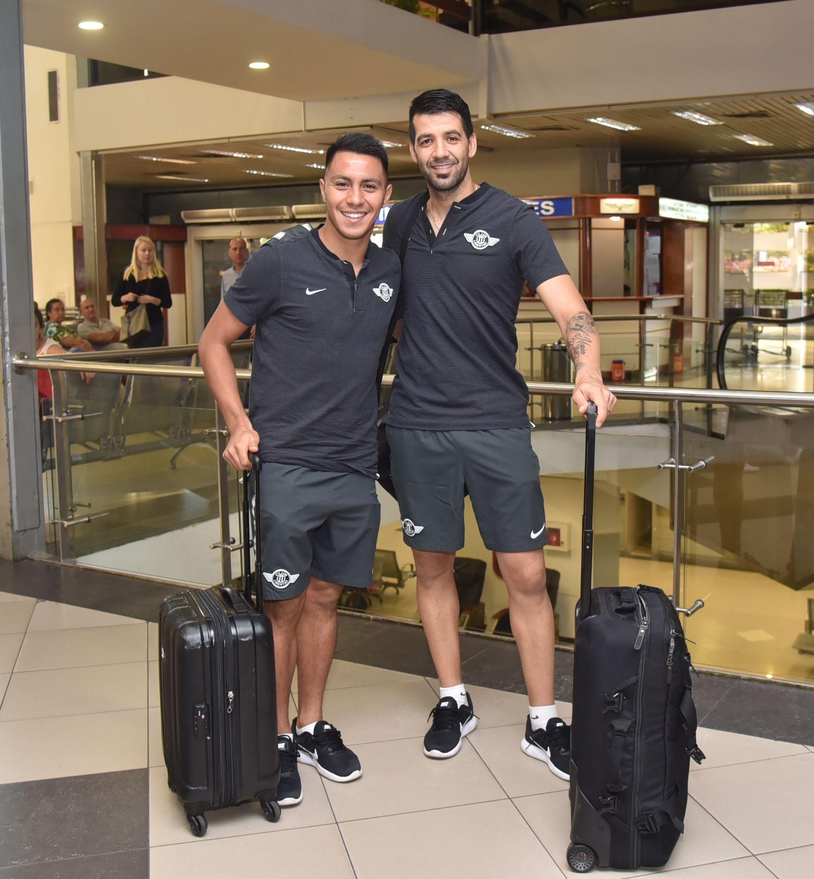 Rodrigo Muñoz y Ángel Cardozo Lucena antes de un viaje. Foto: Última Hora