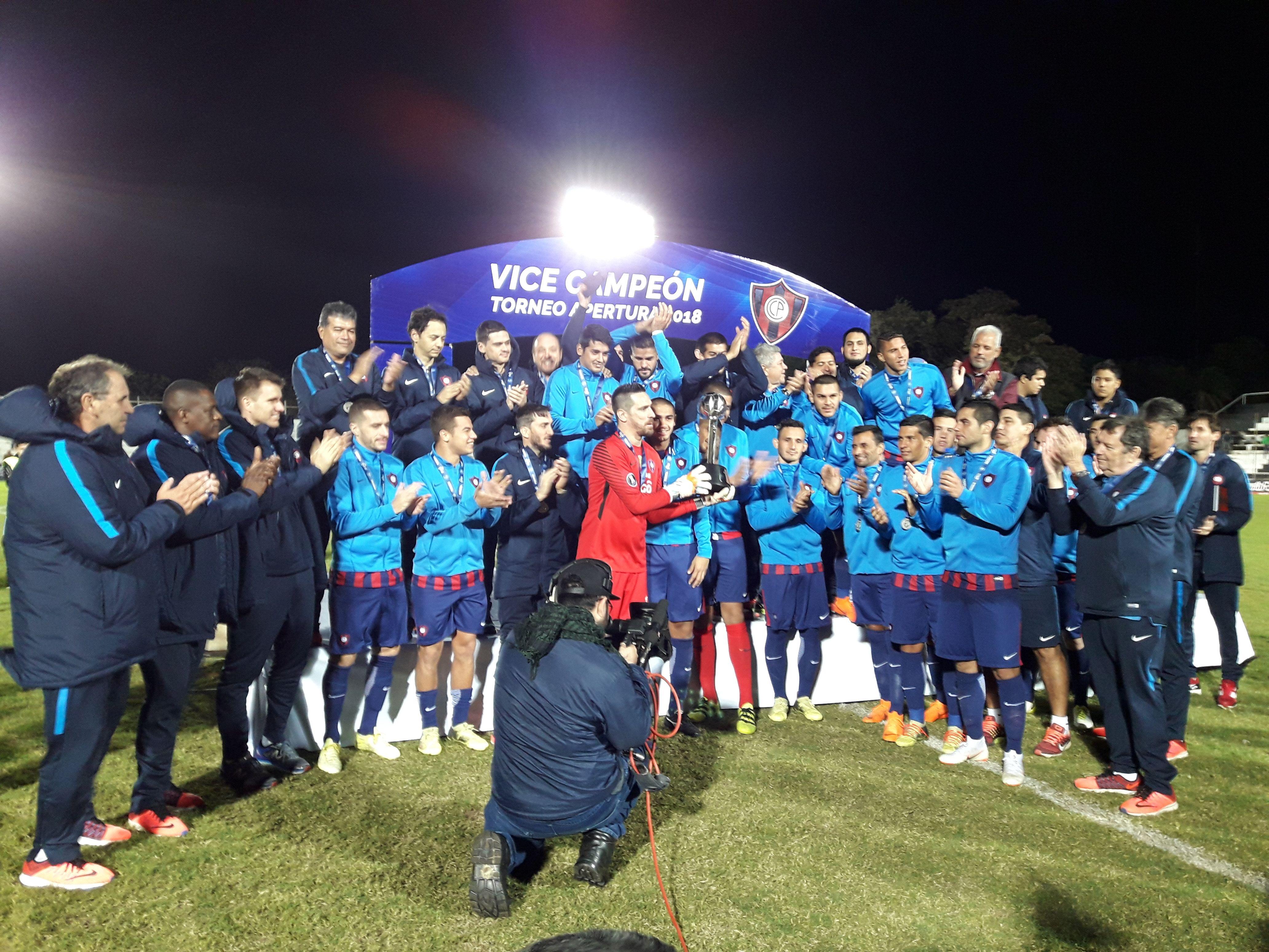 Cerro Porteño es vicecampeón del Apertura. Foto: Carlos Aquino - Última Hora.