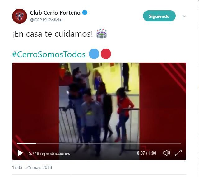 Cerro Porteño ayudó a detener a un ladrón y recuperar los objetos. Foto: Gentileza