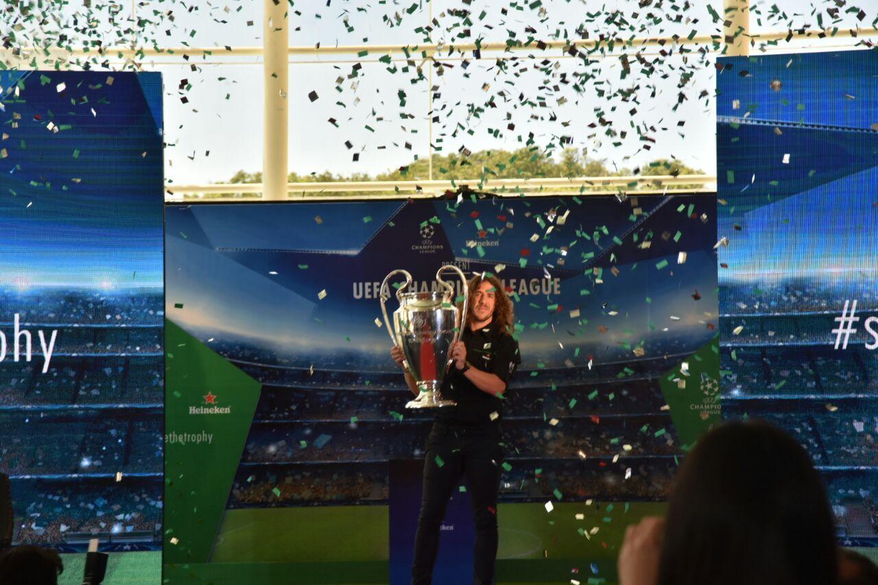 El Trofeo de la Champions League está en Paraguay.