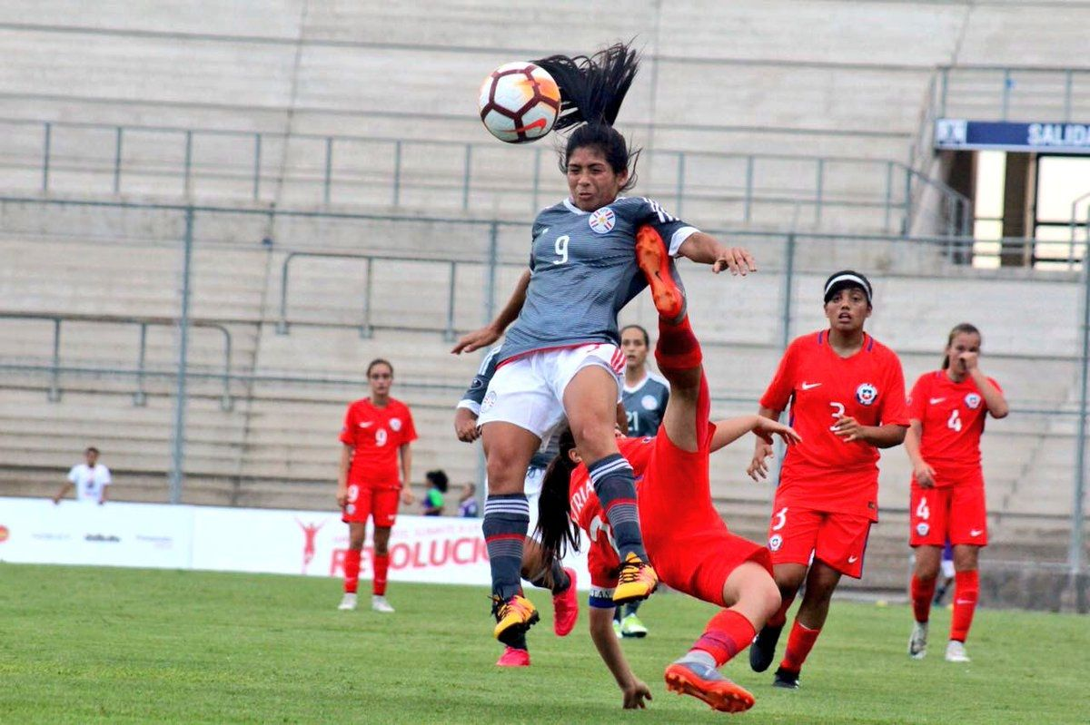 Dura lucha. Paraguay no pudo sostener victoria de 2-0. Foto: Twitter