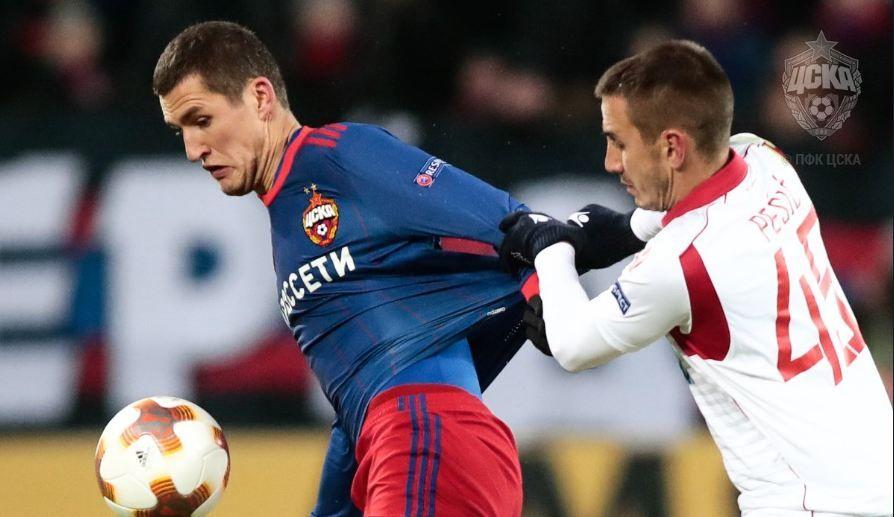 Vasin se lesionó en un juego de la Europa League. Foto: EFE