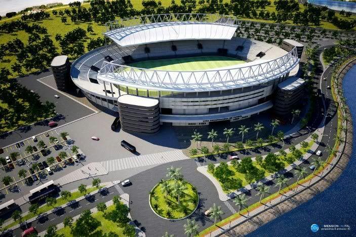 La Liga Encarnacena tendrá un estadio de primer nivel. Foto: Gentileza