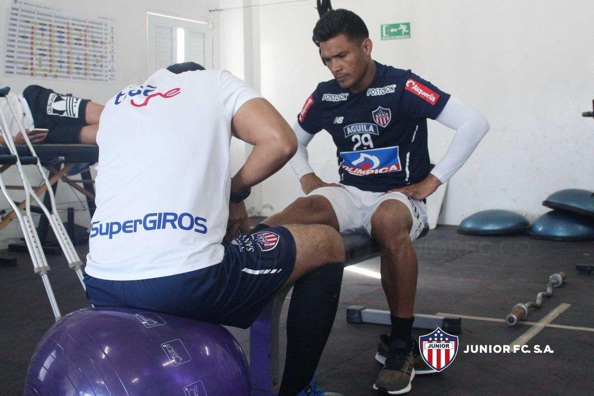 Teo trabaja diferenciado para el duelo con Olimpia. Foto: Junior Prensa
