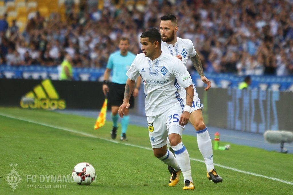 Derlis González se presenta con el Dinamo. Foto:@dynamokyiven