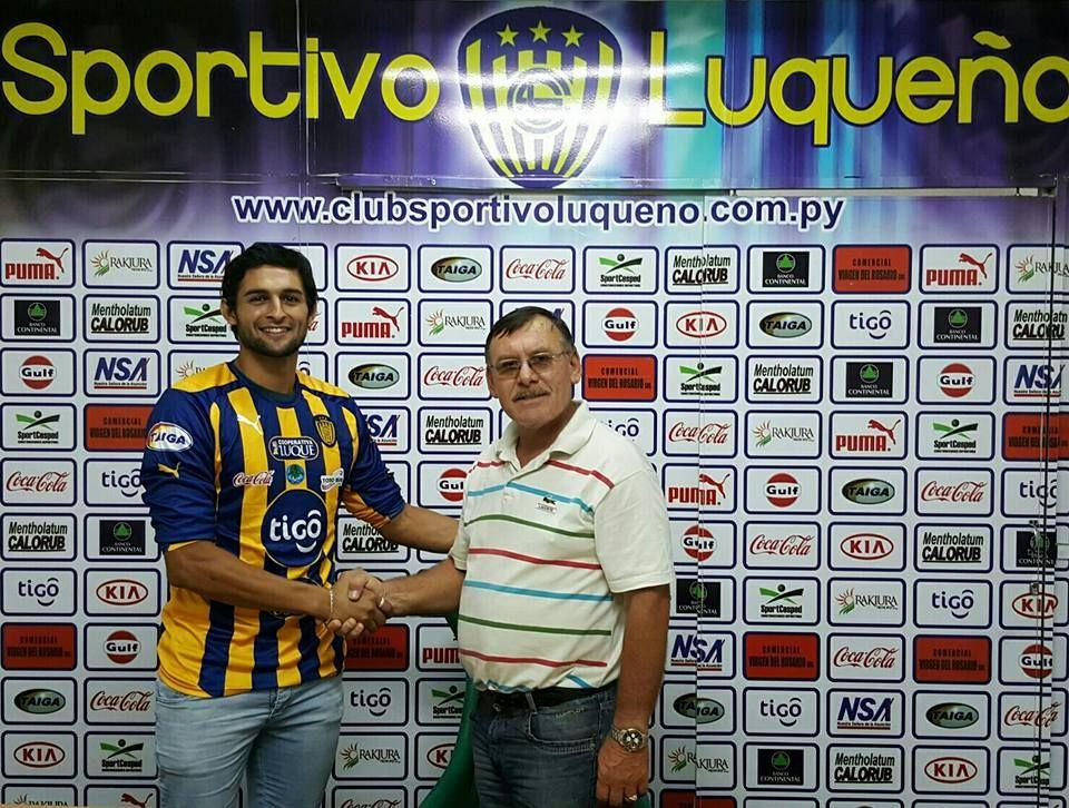 Adalberto fue presentado en Luqueño. Foto: Prensa Sportivo Luqueño.