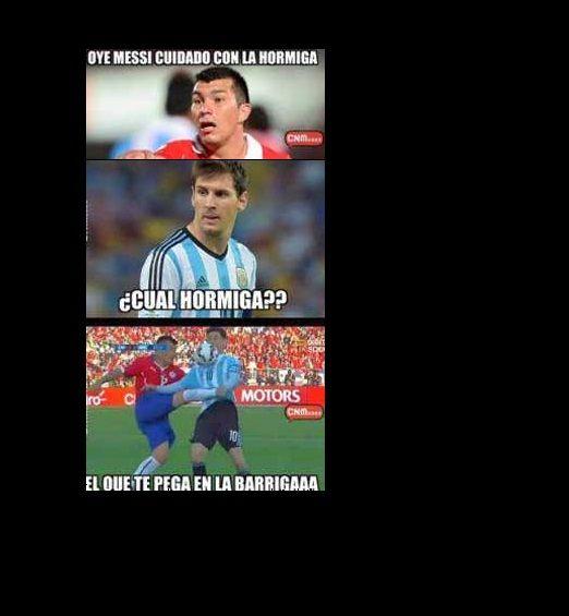 Chile festeja y Argentina es el campeón... de los memes