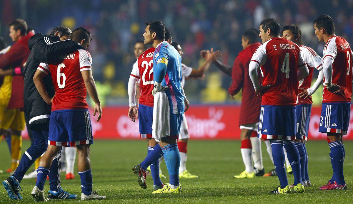La Selección Paraguay quedó en la cuarta posición de la Copa en Chile. Foto: EFE