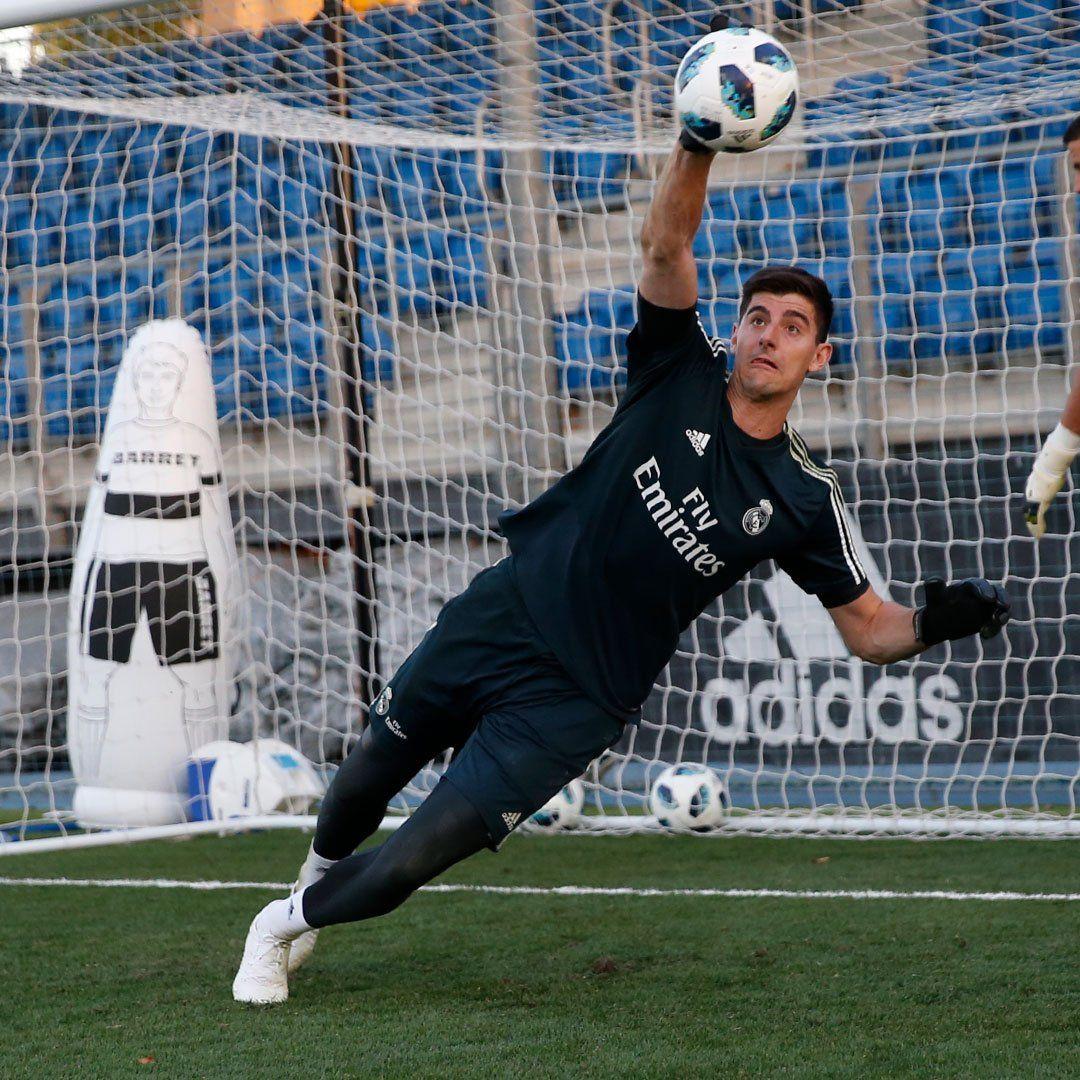 El portero belga realizó su primer entrenamiento en el Real Madrid. Foto: Prensa Real Madrid