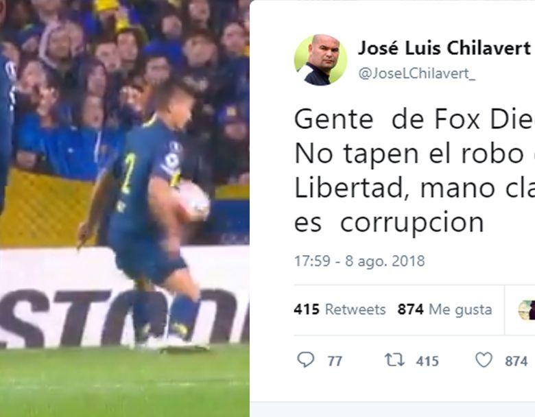 El portero paraguayo explotó a través de Twitter.