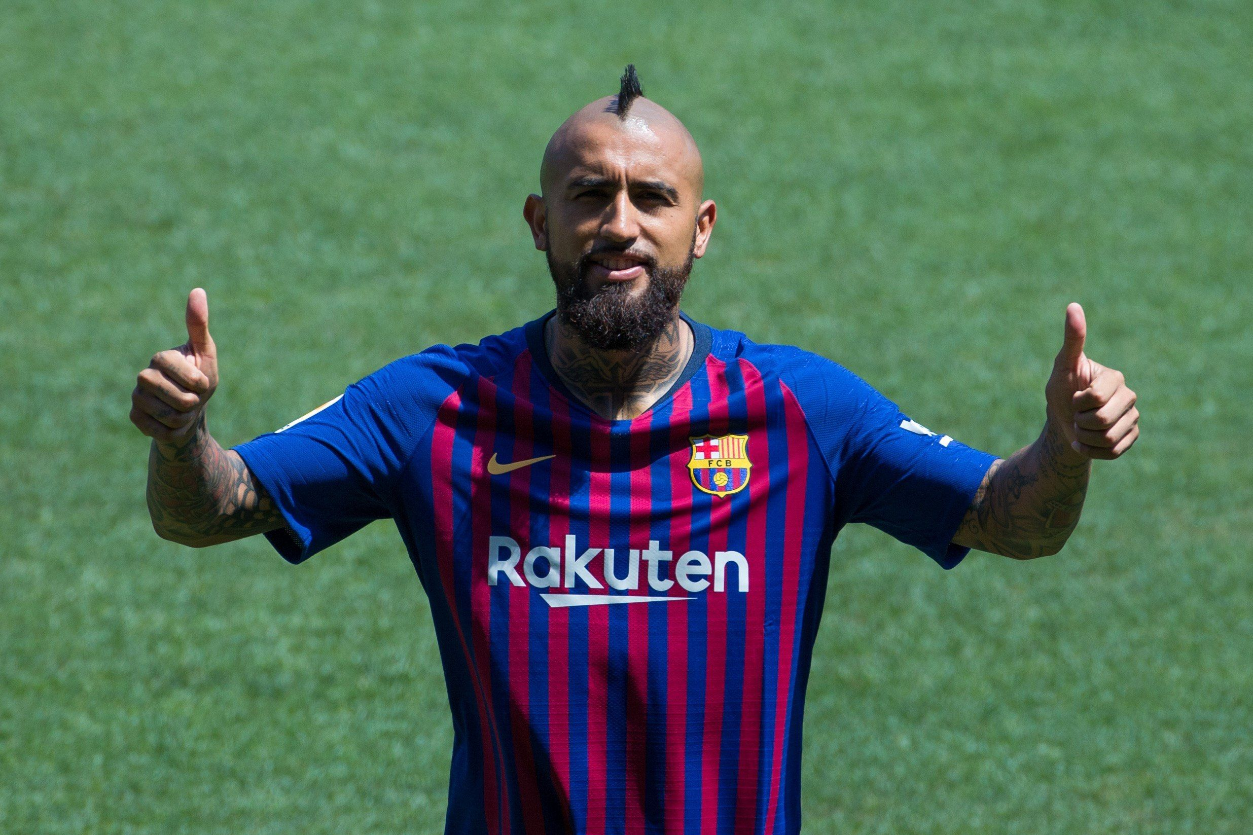 Arturo Vidal fue presentado en el Barcelona. Foto: EFE