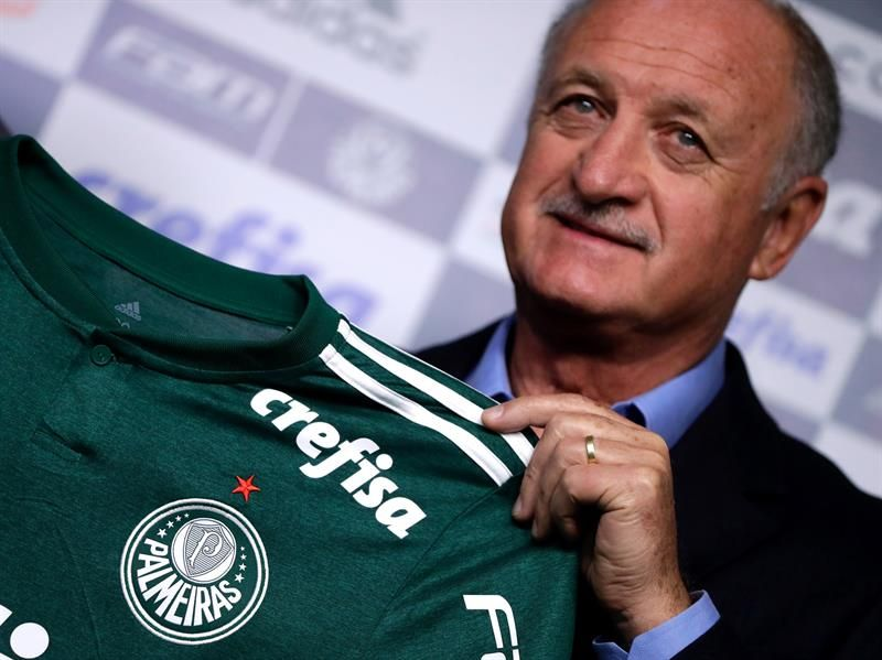 Scolari quiere la triple corona con el Palmeiras. Foto: EFE