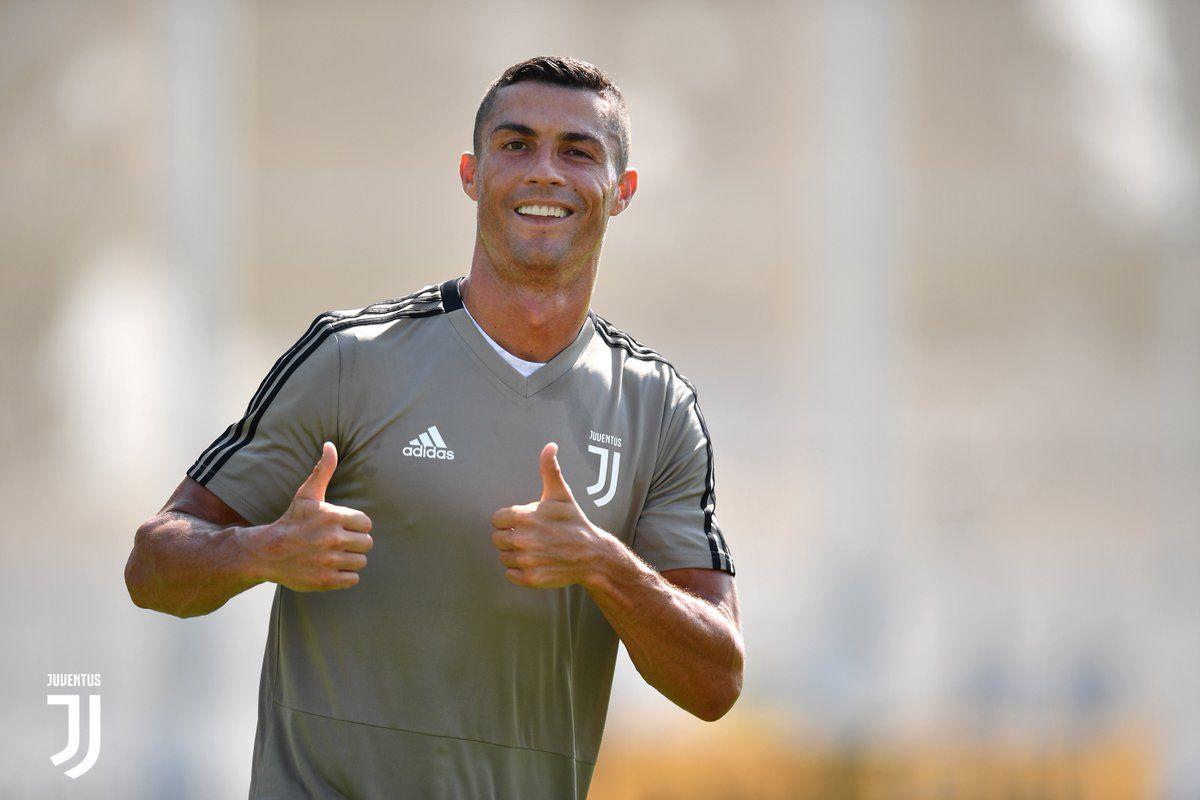 Cristiano y su primer entrenamiento en la Juve.
