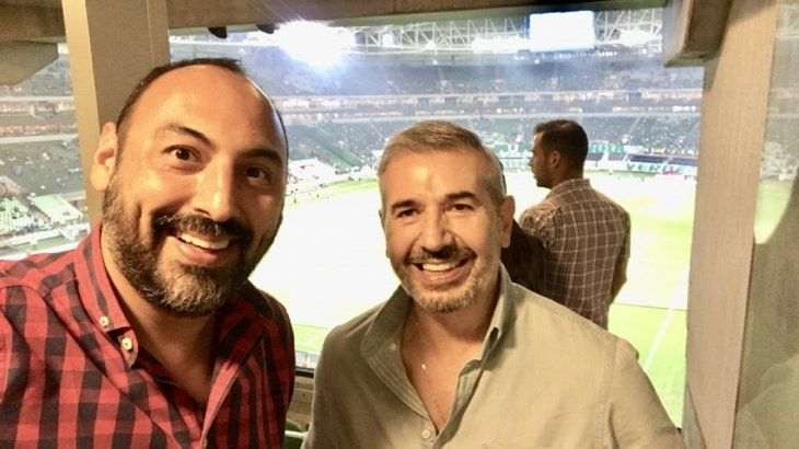 Raúl Zapag (Izq) junto a Óscar Franco (Der).