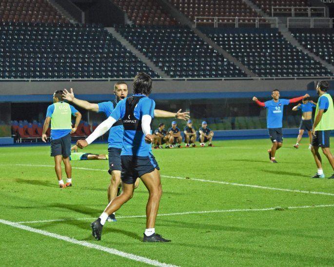 Jugadores de Cerro durante un entrenamiento del equipo.